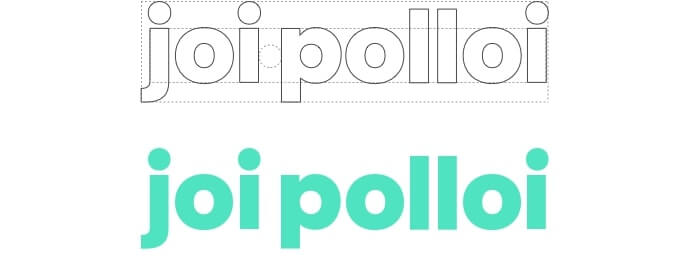 The new Joi polloi typeface