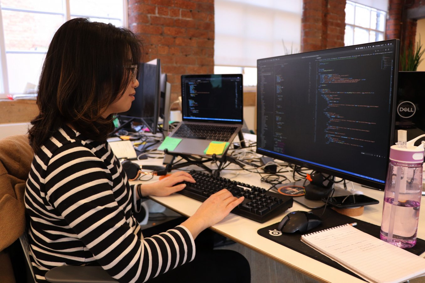 Ana, our first female developer