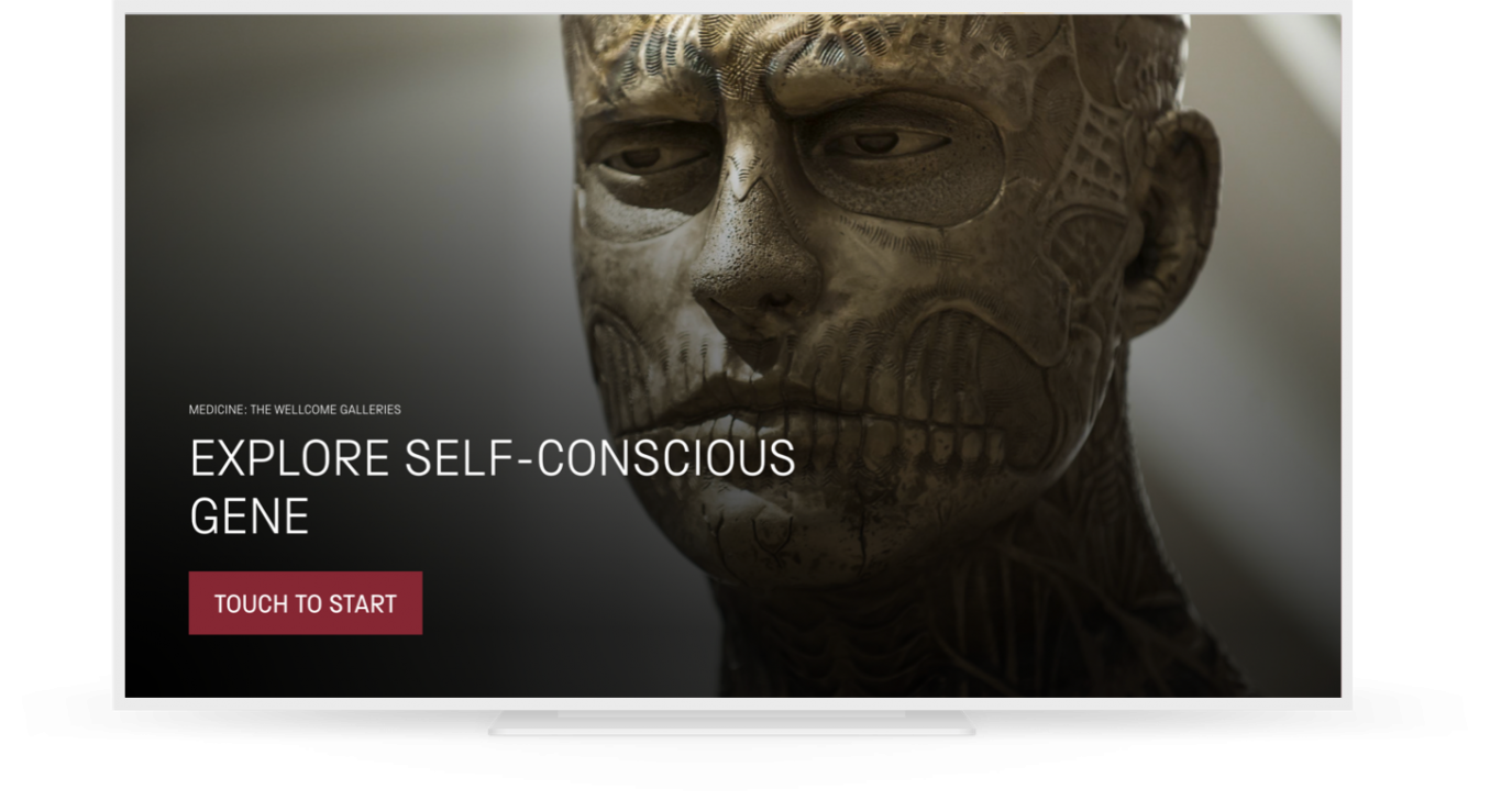 a screengrab of the kiosk's landing page