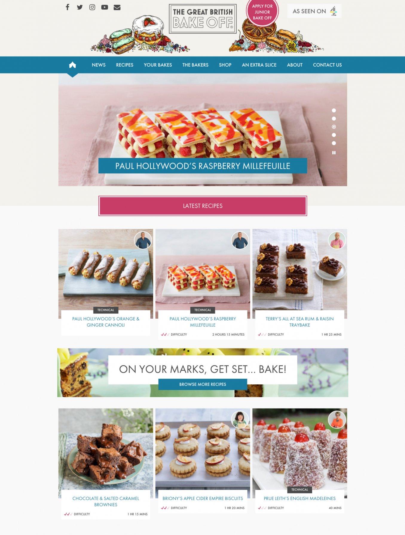 Screengrabs of the GGBO website