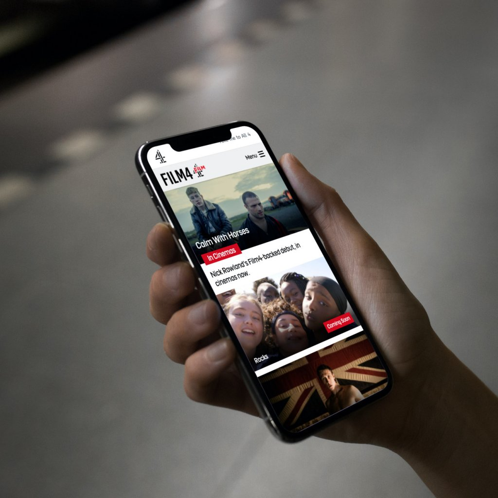 Film 4 website on a phone
