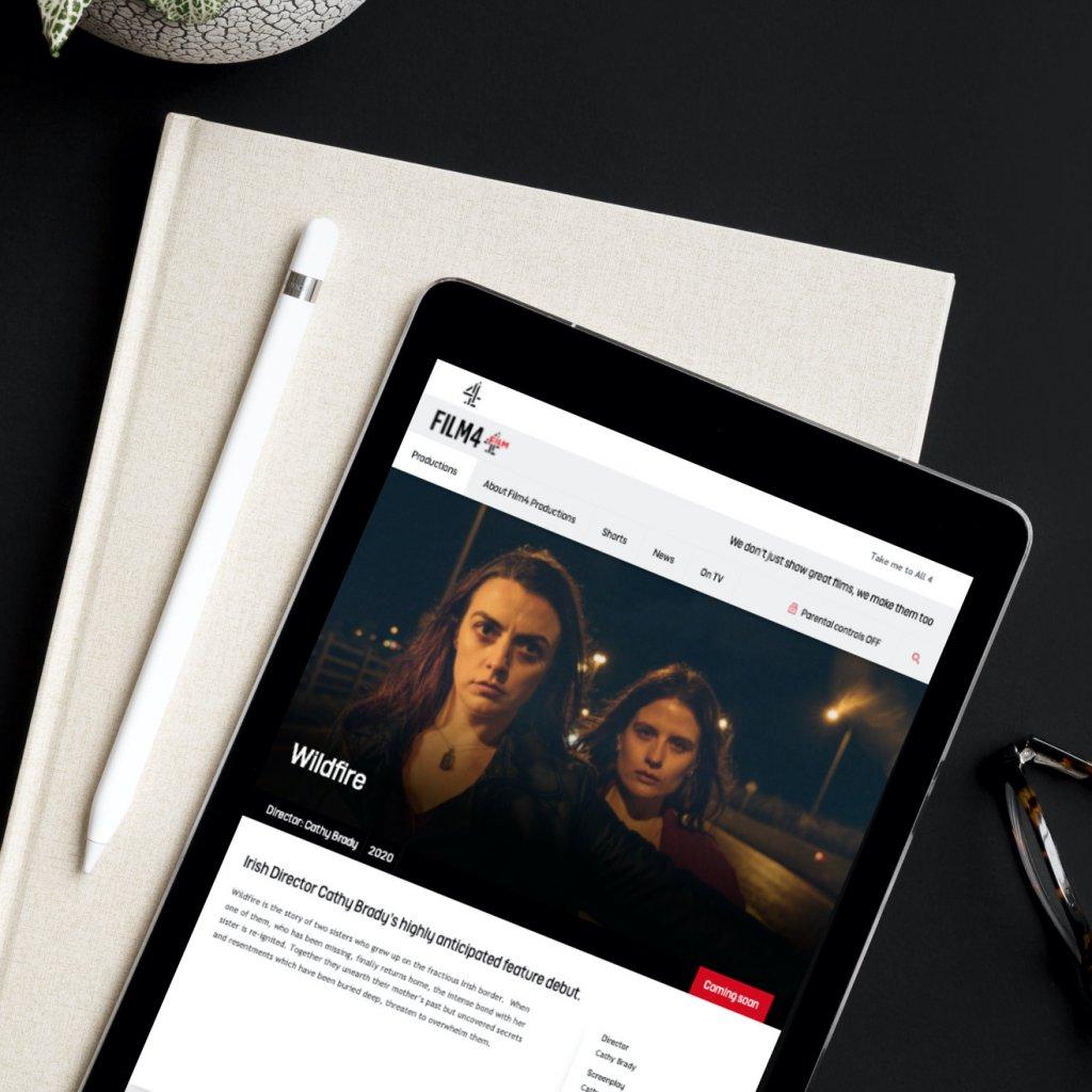 Film 4 website on an iPad