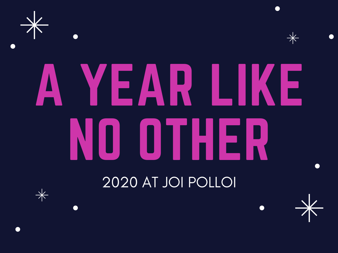 A year like no other - 2020 at Joi Polloi