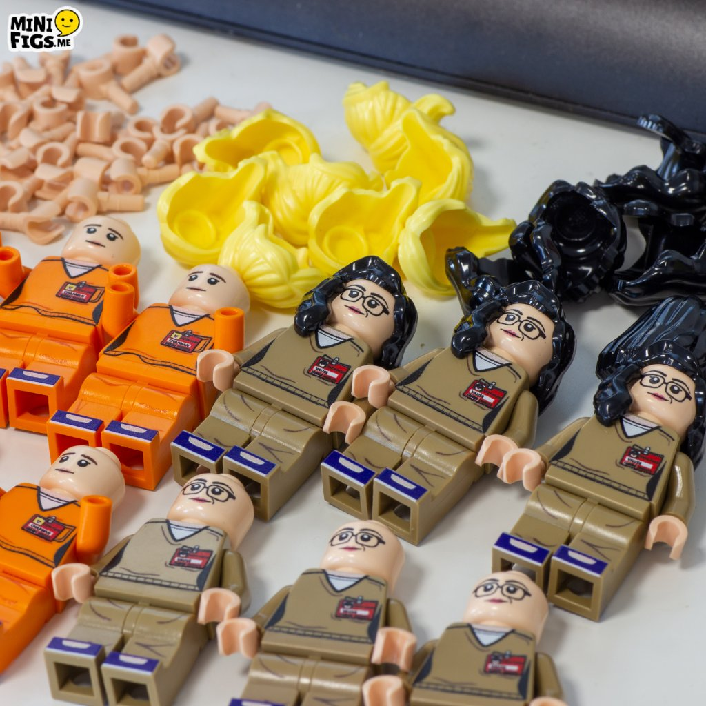 Minifigures from the cast of Orange Is The New Black